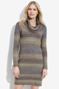 Covetable cowl neck sweater dress
