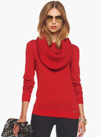 Cowl neck winter sweater