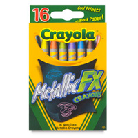 Seen here: Crayola Metallic FX Crayons (Dick Blick, $2)