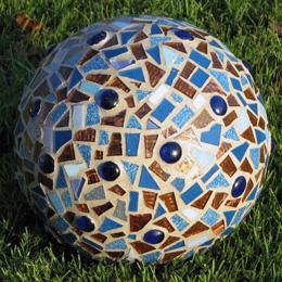 Mosaic garden sphere