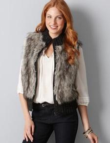 zip front faux vest