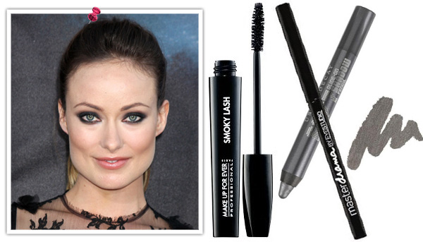 Olivia Wilde's smokey eyes