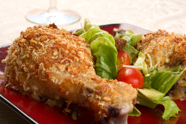Healthy oven fried chicken