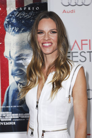Hilary Swank dropped by pr team