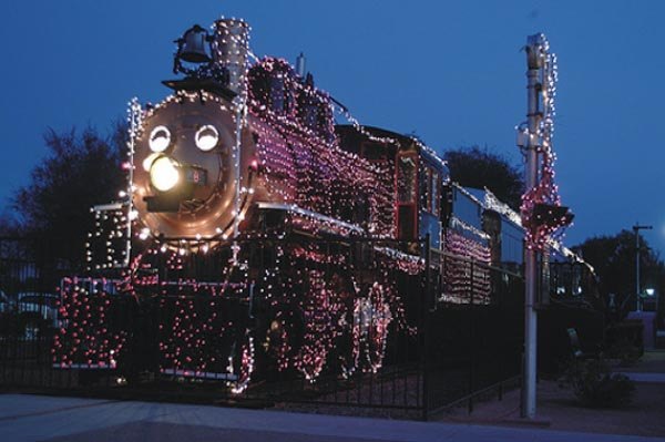 Holiday lights at McCormick Ranch Railroad Park