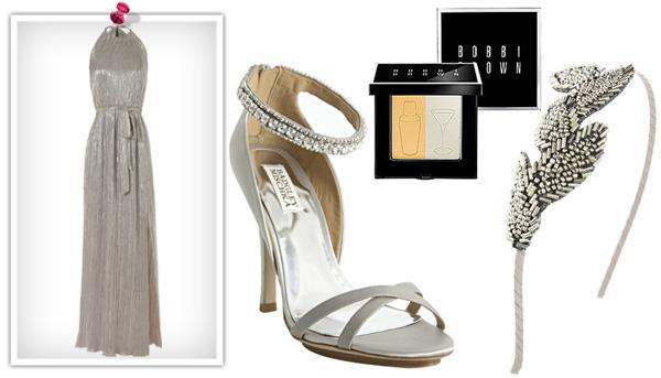 Silver metallic holiday beauty style