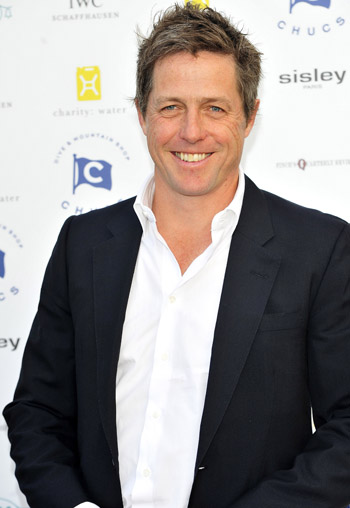 Hugh Grant becomes a first-time dad