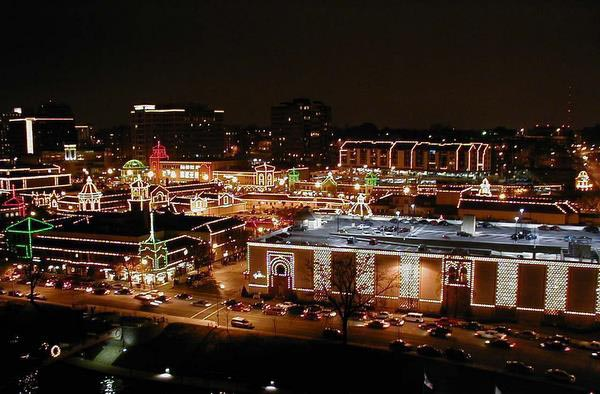 Kansas City Country Club Christams lights