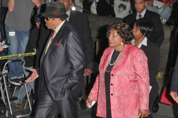 Katherine Jackson and Joe Jackson at Conrad Murray trial
