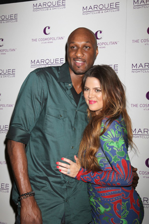 Khloe Kardshian and Lamar Odom