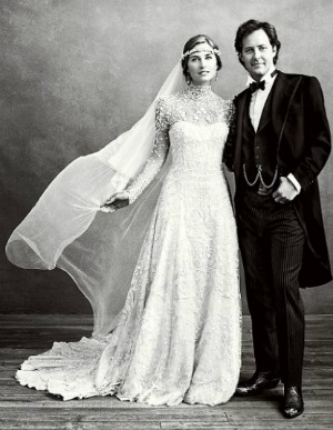 Lauren Bush David Lauren wedding portrait