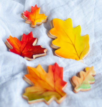 Leaf sugar cookies