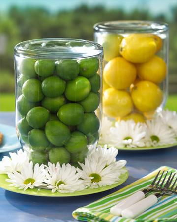 Lemon and lime vase