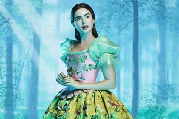 Lily Collins as Snow White in Mirror Mirror
