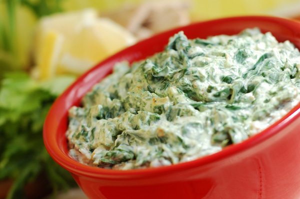 Low fat spinach dip