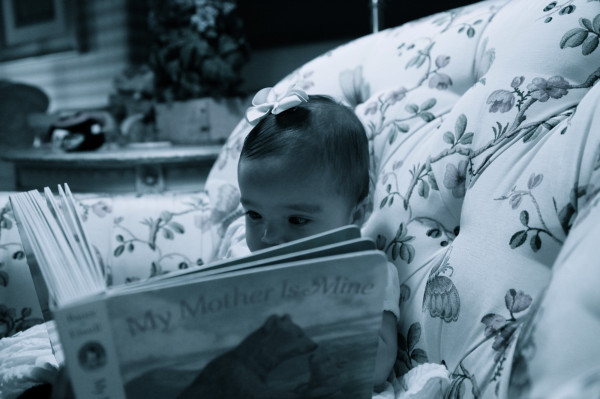 Mariah Carey and Nick Cannon's daughter Monroe reading the book My Mother is Mine