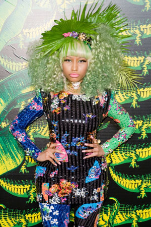 Nicki Minaj at the Versace for H&M launch