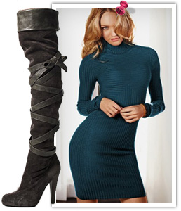 What to wear with over the knee boots