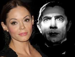 Rose McGowan and Count Dracula