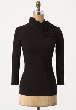 Ruffled demi turtleneck