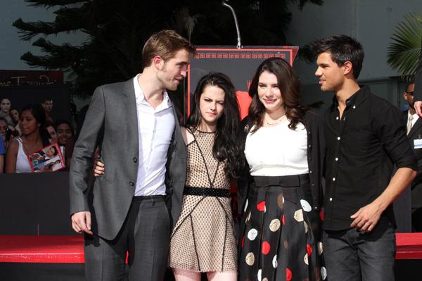 Stephenie Meyer, Robert Pattinson, Kristen Stewart, Taylor Lautner