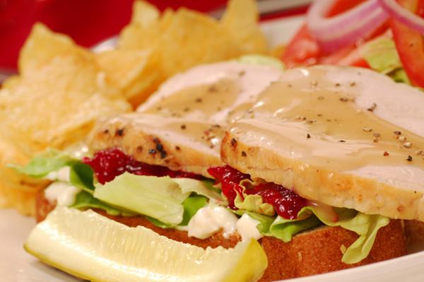 Thanksgiving potluck sandwich