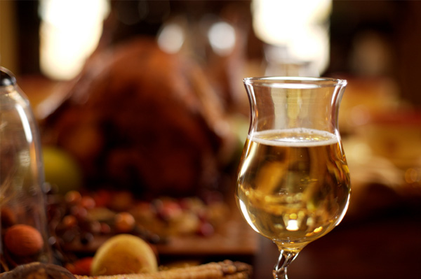 Thanksgiving turkey and wine