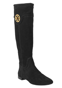Tory Burch suede riding boot