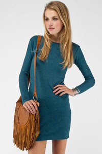 Totally turquoise sweater dress