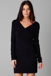 Very V-neck sweater dress