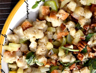 Vegan herb spiced stuffing