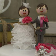 Vintage cake topper