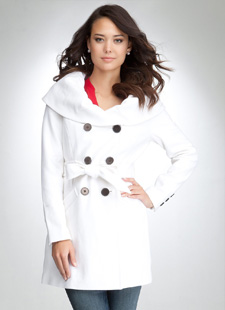 White shawl coat