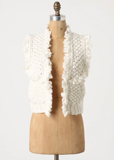 chunky wool style vest