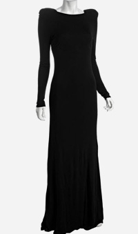 A.B.S. by Allen Schwartz black jersey gown cutout back gown, $207, from Bluefly.com