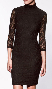 black lace pencil dress, $60, from Zara