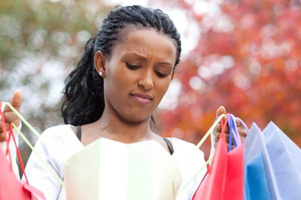 Woman unhappy with her Black Friday purchase