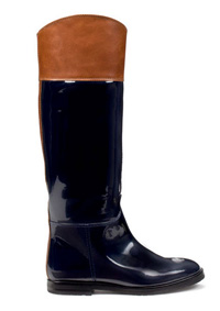 Zara patent leather boot