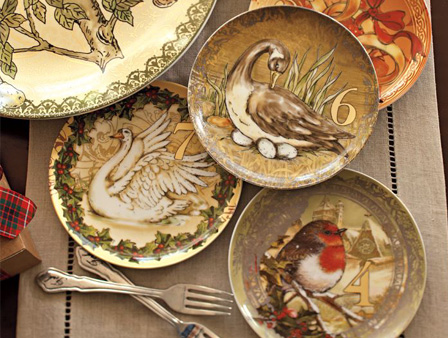 Twelve Days of Christmas salad plate Set (Pottery Barn, $99)