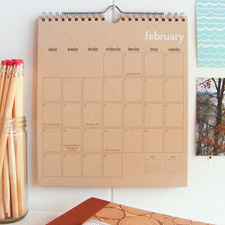 Sweet & simple wall calendar