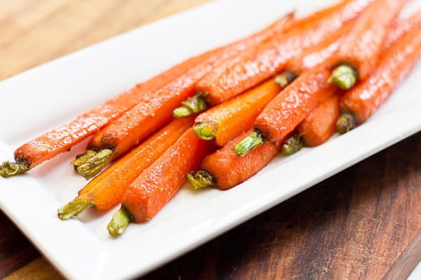 Carrots Spiced with Fresh Ginger, Cumin and Chili