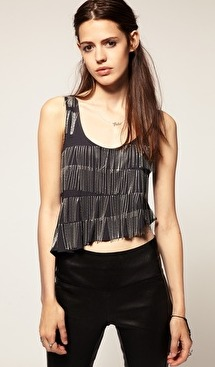chainmail fringed top