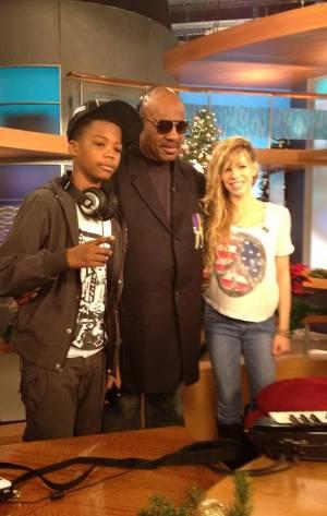 Astro, Stevie Wonder and Drew
