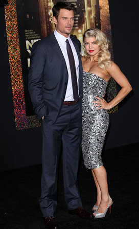 Fergie and Josh Duhamel at the New Year's Eve premiere