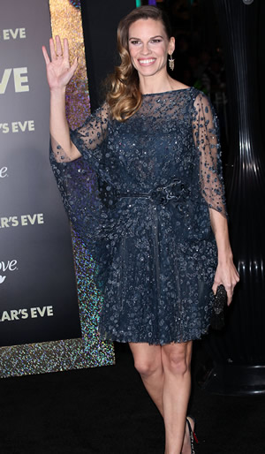 Hillary Swank and the New Year's Eve movie premiere