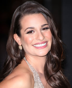 Lea Michele at the New Year's Eve movie premiere