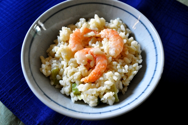 Tequila adds a nice kick to a simple risotto