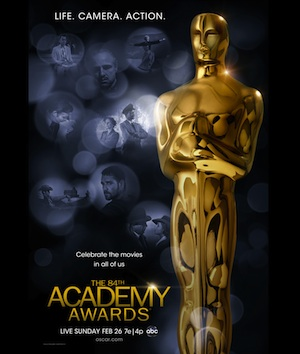 The 84th annual Academy Award poster.