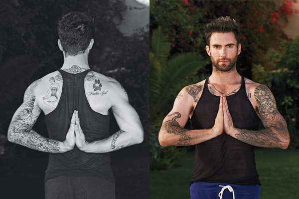 Adam Levine loves yoga