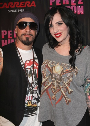 A.J. McLean and Wife